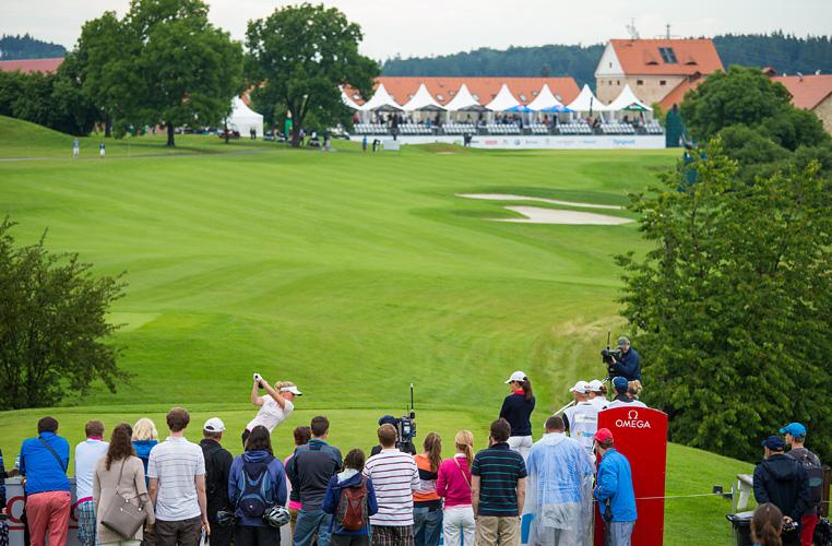 19/06/2016. Ladies European Tour 2016. Tipsport Golf Masters, Golf Park Pilsen, Dýšina, Czech republic. June 17-19. Nanna Madsen of Denmark on the 18th tee during the final round. Credit: Tristan Jones