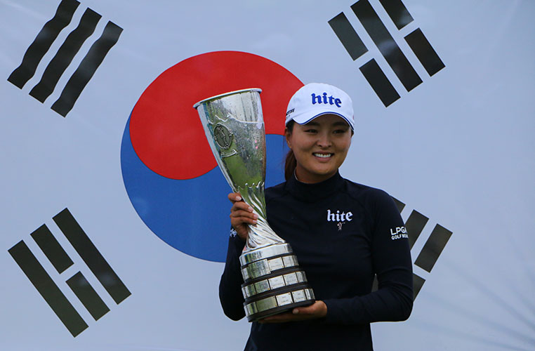 Image result for jin young ko wins evian