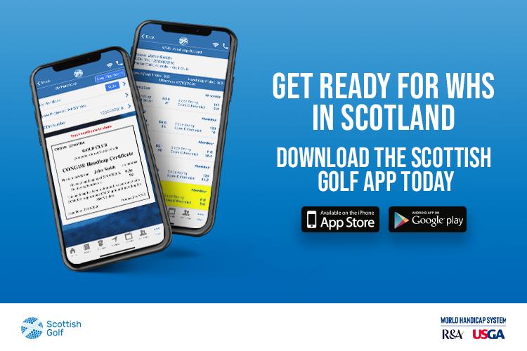 Ad - Scottish Golf App